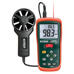 Máy đo lưu lượng gió kết hợp nhiệt kế hồng ngoại Extech AN200